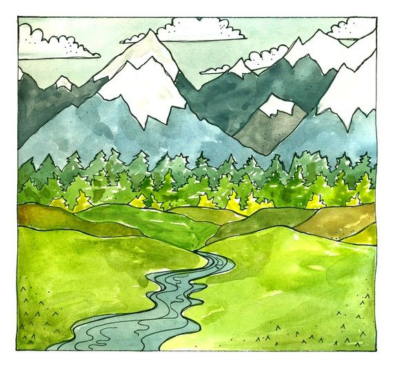 Mountains by taramcauley on Etsy