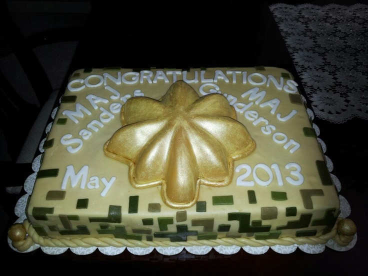 Army Promotion Cake Ideas
