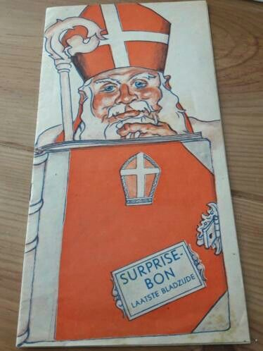 Sinterklaas, de Gruyter, folder, jaren '30.