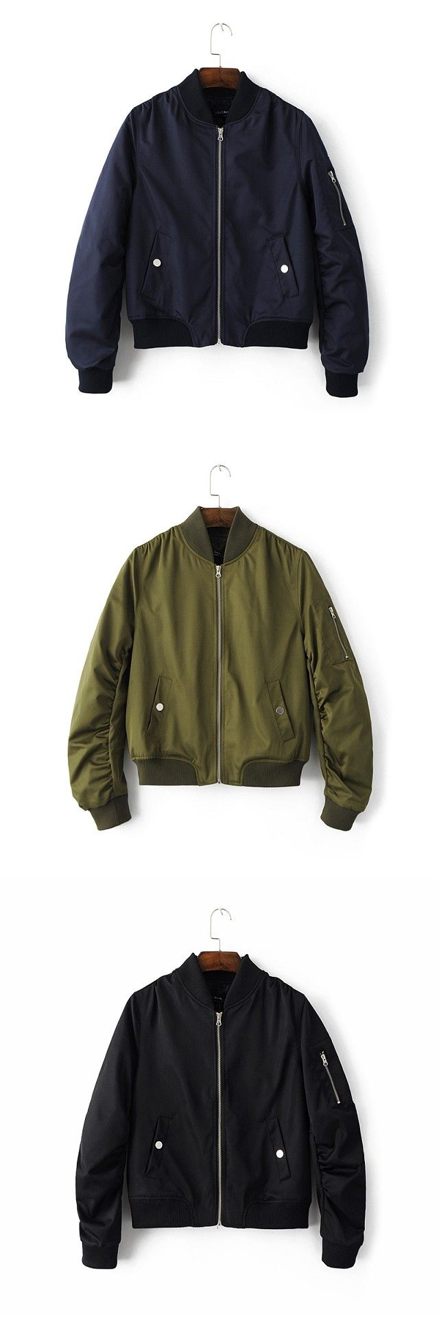 Army Green Zipper Bomber Jacket Women 2016 Military Flight Ladies Biker Womens Girls Black Bomber Jackets Jack  chaquetas mujer