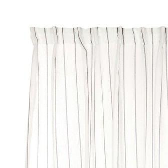 KARWEI kant en klaar gordijn wit met zwarte streep (1110) 140 x 280 cm