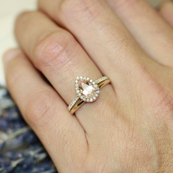 Halo Ring With Plain Wedding Band | Wedding