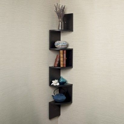 Make use of all your forgotten corner space with this chic corner shelf!
