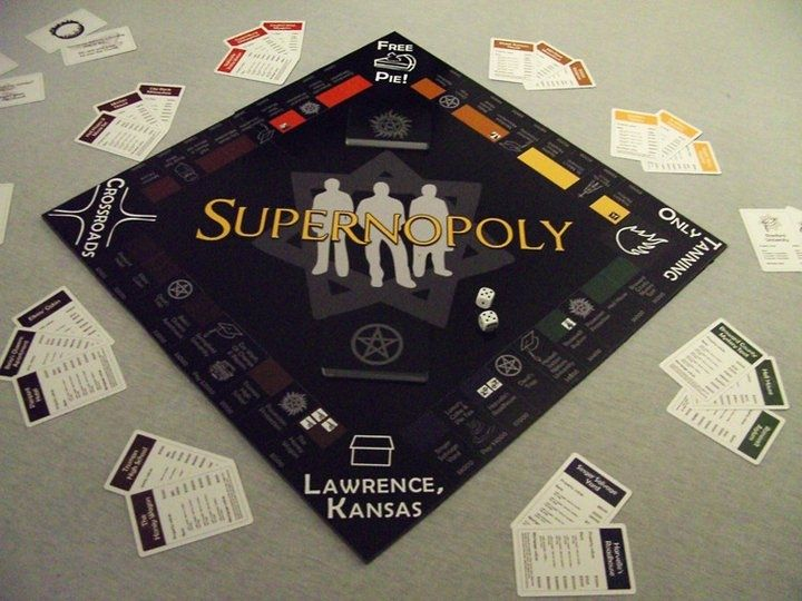 I want this. Monopoly+SPN=Epic awesomeness. Two of my favorite things! Too bad no one would ever play it with me haha