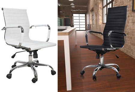 Luxe bureaustoel met hoge of lage rugleuning nu al vanaf €114,95   Comfortabel achter je bureau zitten