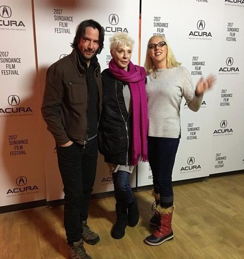 Keanu Reeves with his mother, Patricia Taylor and half sister, Karina Miller - 2017 Sundance Film Festival
