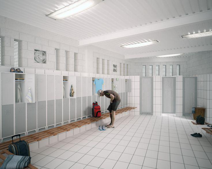 Company vestiers, CGI by Arch. Andrés González.