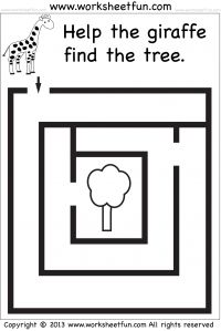 It's just a picture of Gargantuan Preschool Maze Printable