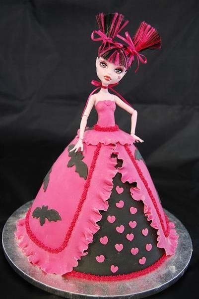 Как испечь платье торт платье для куклы