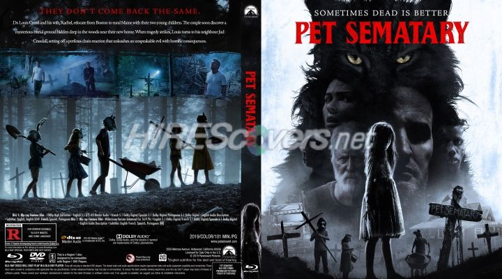 Pet Sematary 2019 Custom Blu Ray Cover Custom Dvd Pet Sematary Movie Covers