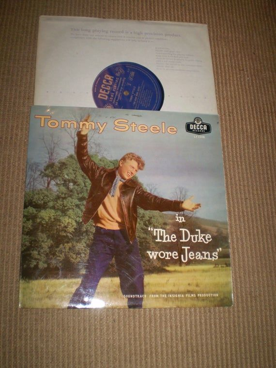 The Duke Wore Jeans Tommy Steele 1958 10 Inch Vinyl Lp Album Film Soundtrack Near Mint Lf1308 In 2020 Tommy Steele How To Wear Soundtrack