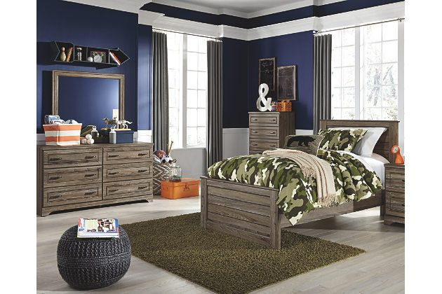 Javarin 5-Piece Twin Panel Bedroom by Ashley HomeStore, Brown