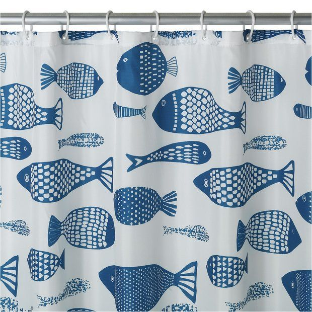 buy home mould resistant shower curtain fish at argoscouk your