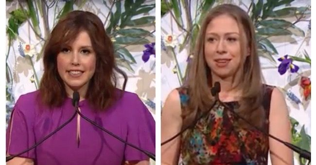 Comedienne burns Chelsea with embarrassing Clinton joke while introducing her – and she was not pleased!