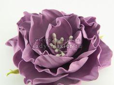 Роза из фоамирана по цельным шаблонам, мастер - класс с фото, пошагово