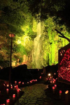 清水の滝と紅葉ライトアップ 「清水竹灯り」|旬の情報|九州旅ネット 九州観光情報サイト