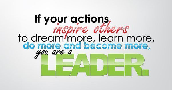 That's what a true leader should do!!!