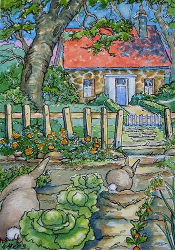 """""""So Many Goodies So Little Time Storybook Cottage Series""""  ~  © Alida Akers"""