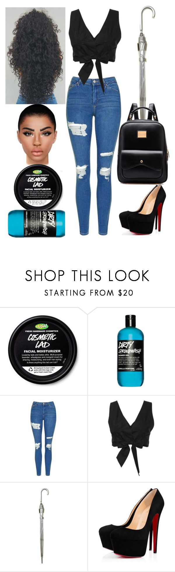 """Nottingham: October 7"" by allison-syko ❤ liked on Polyvore featuring Topshop, Fulton and Christian Louboutin"