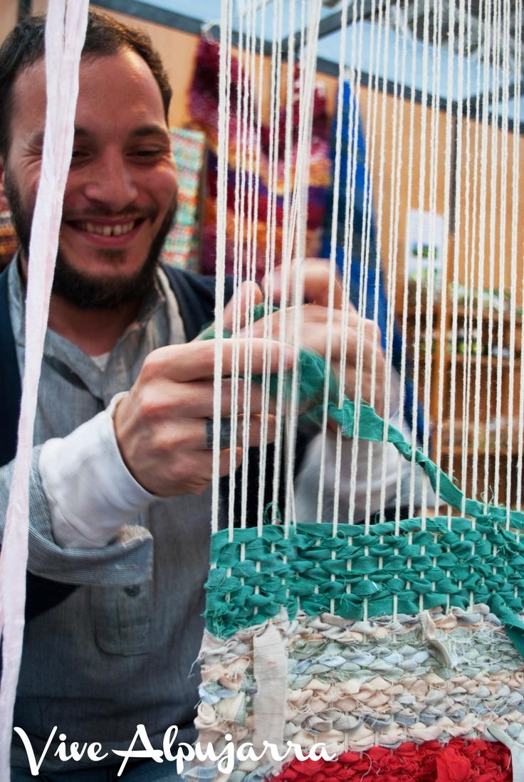 Feria Hecho en La Alpujarra. Taller textil Hilácar. Vive Alpujarra