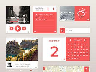 ui user interface web app flat minimal