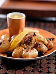 Ovnsbakte poteter med oliven og Sweet Curry