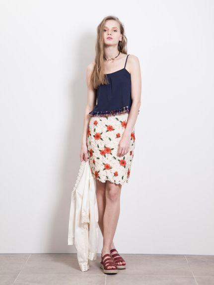 サテンレースタイトスカート(タイトスカート)|Lily Brown(リリーブラウン)|ウサギオンライン公式通販サイト