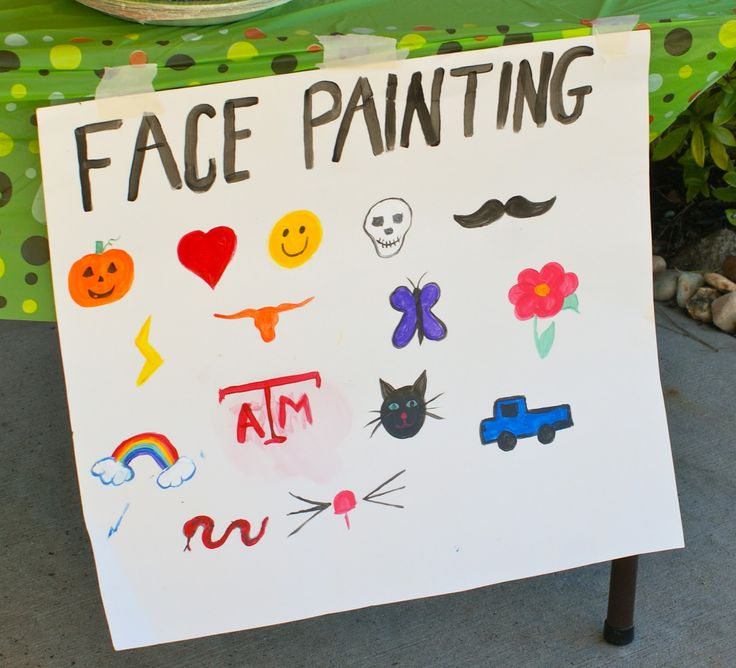 Handy image within printable face painting chart