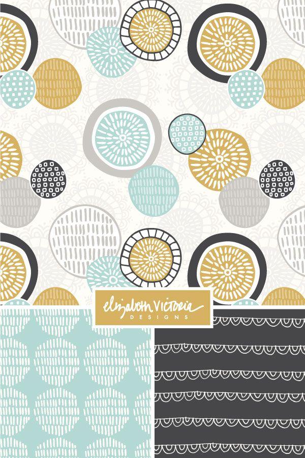 Objectivity Collection // Surface Pattern Design by Beth Schneider - Elizabeth Victoria Designs