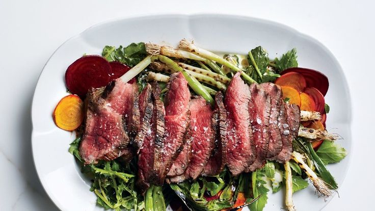 Grilled Steak Salad with Beets and Scallions Recipe | Bon Appetit