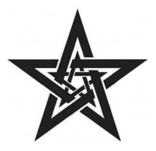 Latest Dark Black Tribal Star Tattoo Design