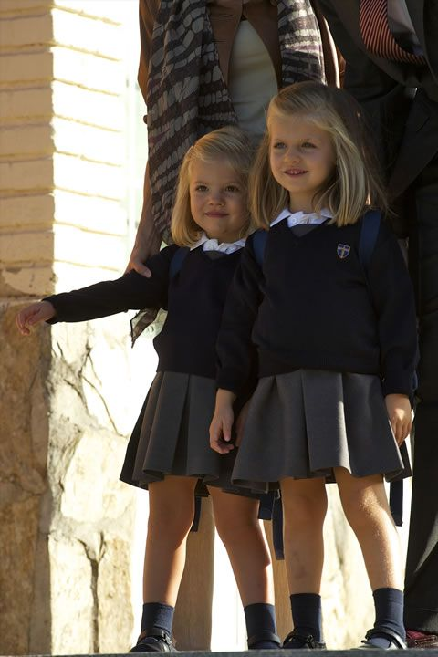 spanishroyals:  The Infanta Leonor and the Infanta Sofía.