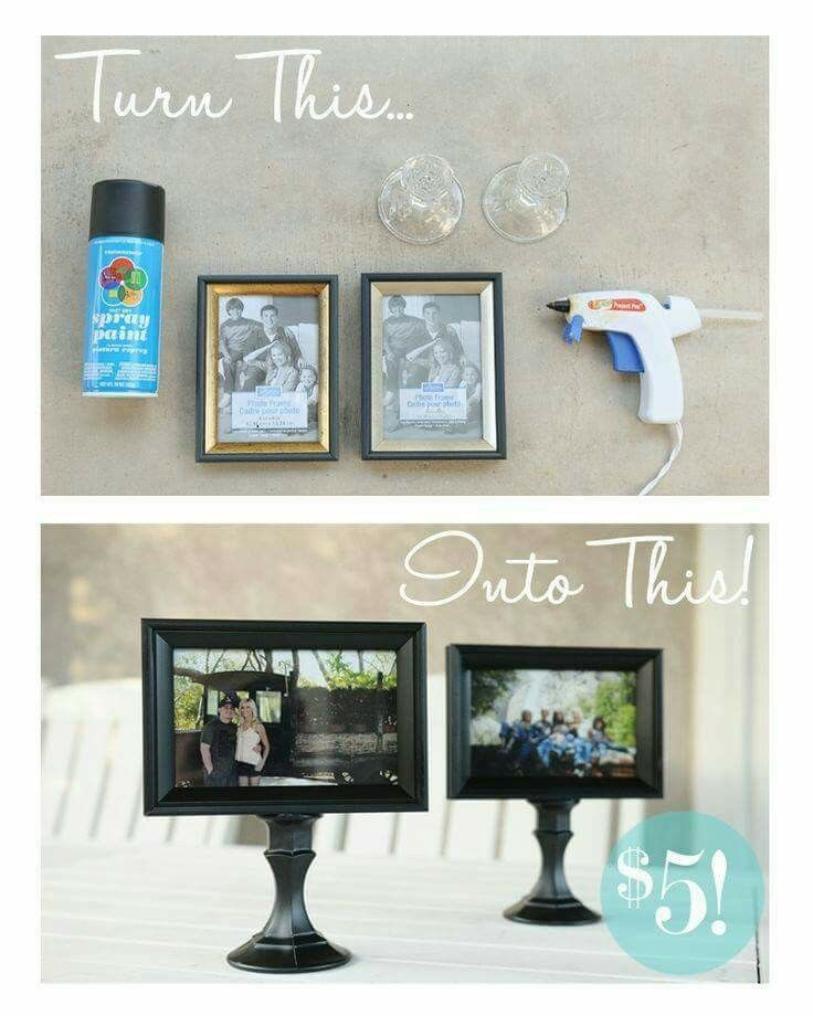 Cute idea using picture frames and candle holders!