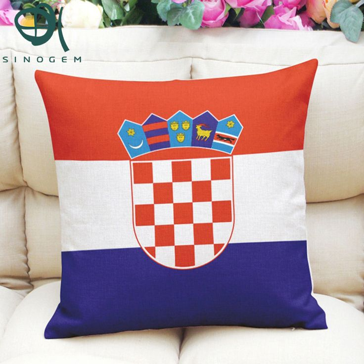 Sinogem New qualified Cotton Linen Square 4 kinds of National Flag throw pillow case European countries pattern case for home #Affiliate