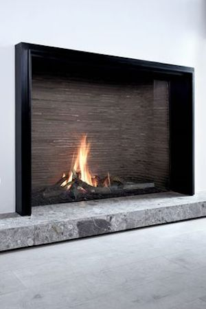Unique L MF 1300-95 GHE 1S Fire place by Belgian Company Metalfire
