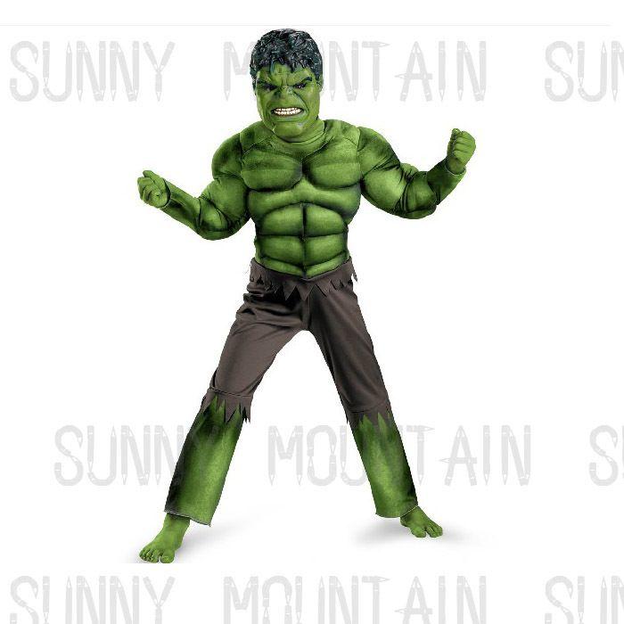 New Avengers Hulk  Bruce Banner Costume for Kids Fancy Dress Halloween Party Full Set Cosplay Children Gift US $34.23 - 46.91