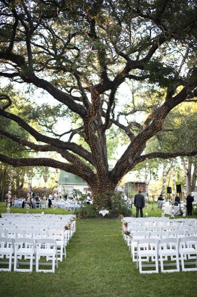 my wish is to have my wedding ceremony outside in a vinyard. i love this setup just with a little country twist