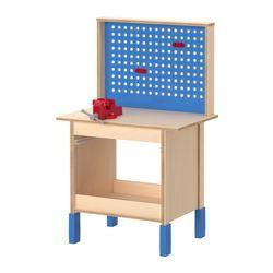"DUKTIG work bench, birch plywood Length: 23 5/8 "" Width: 15 "" Height: 35 7/8 "" Length: 60 cm Width: 38 cm Height: 91 cm  $79.99"