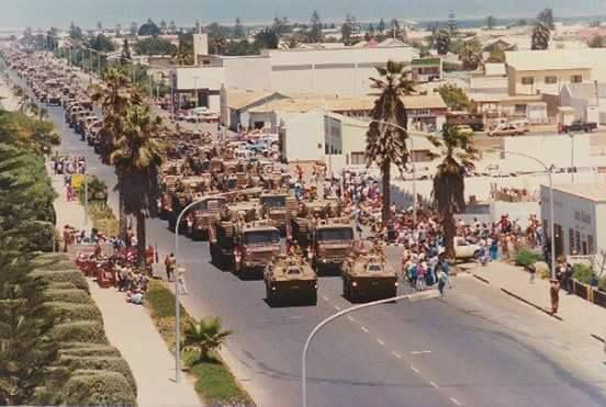 The last parade of 61 Mech in Walvis Bay