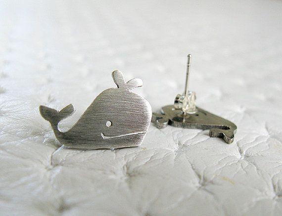 Balena orecchini  gioielli  gioielli in argento fatti a mano