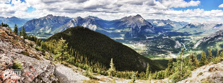 {Banff, Alberta, Canada} View from Sulfer Mountain, landscape photography, iPhoneography