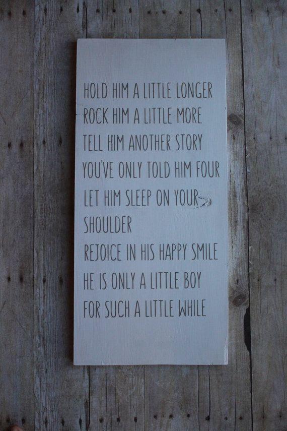 Hold him a little longer little boys poem by MagnoliaBlushDesigns