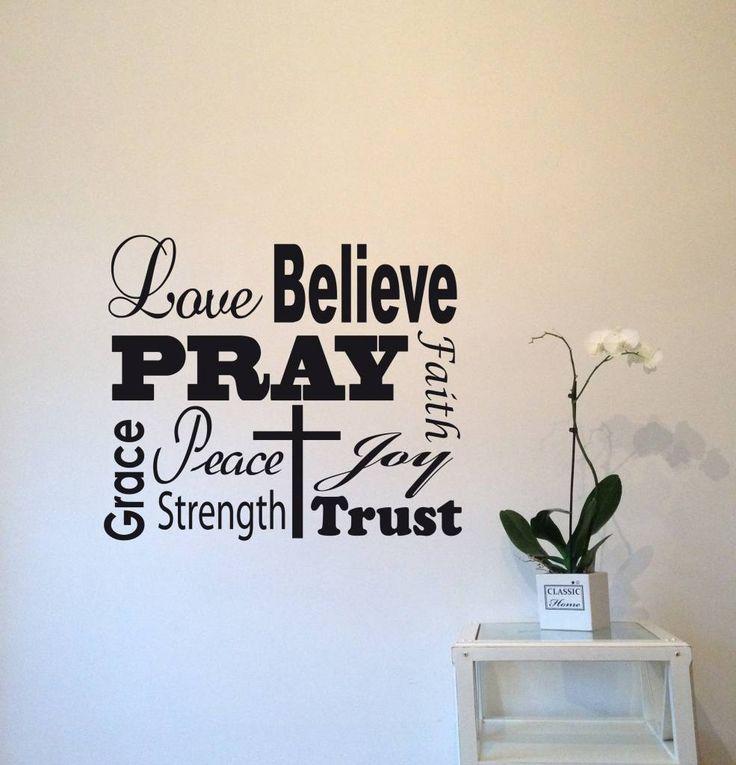 Muursticker Geloof God Jezus    http://www.versierendoejezo.nl/muursticker-geloof.html