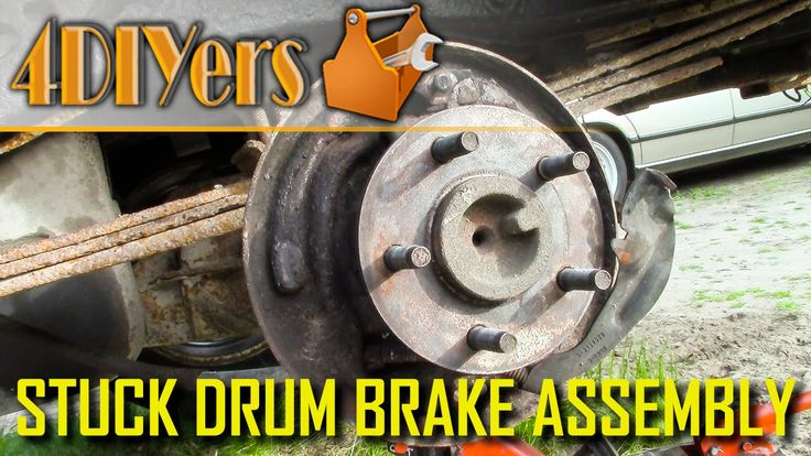 What cause a drum brake assembly to stick.