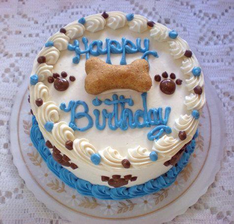 Dog Cake 4 Happy Birthday Puppy Cake by MyBestFriendBakery on Etsy