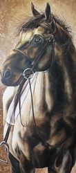 Staring horse, 220x100 cm, oil on canvas