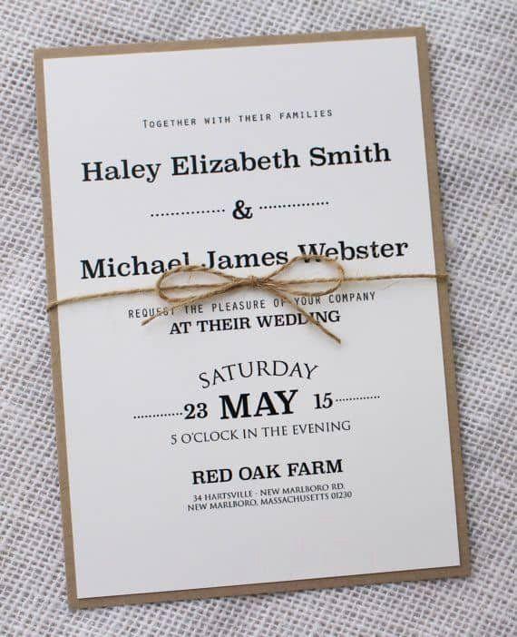 Pinterest Wedding Invitation Ideas Beautiful Simple Wedding Invitations Best Photos Cute Wedding Ideas Di 2020 Perkawinan Kartu Undangan