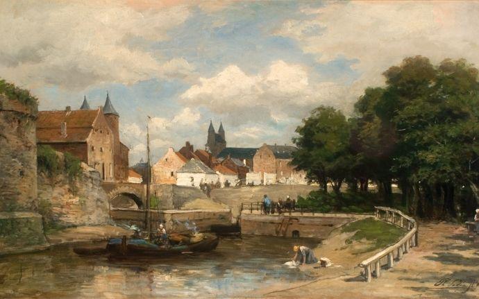 Oud kanaal Maastricht- Luik. van Ph. Sadee.