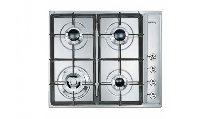 Stove     Smeg Stainless Steel 60cm Gas Cooktop