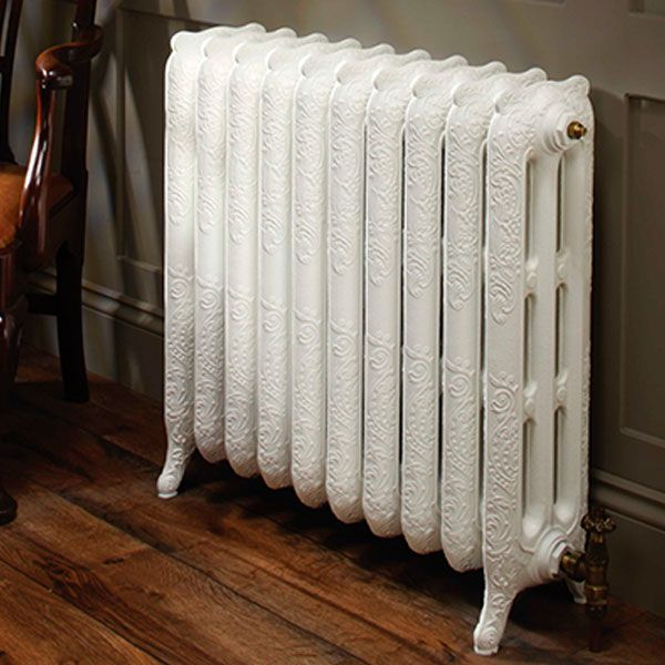 TRC Trieste 2 Column Radiator, 661mm High x 228mm Wide, 3 Sections, RAL